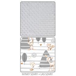Kpl Wkładka do wózka   motylek MINKY SZARY   LAS-1499